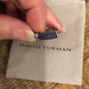 David Yurman Jewelry - David Yurman sapphire cable ring